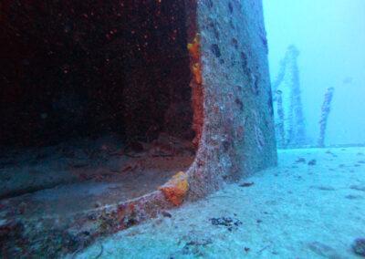 Door opening on the USS Spiegel Grove